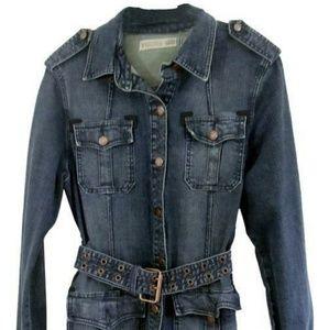 Vigoss Distressed Blue Denim Jacket